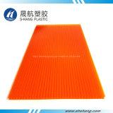 Hoja anaranjada protegida ULTRAVIOLETA del plástico del policarbonato de Lexan Policarbonate