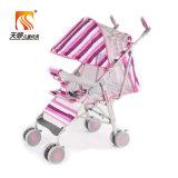 Sgs-anerkannter Stahlrahmen-faltbarer Baby-Spaziergängerpram-Hersteller