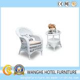 Cadeira branca do Rattan do quarto Elevado-Para trás do hotel do preço do competidor