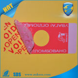 Counterfeiting anti Tamper Evident Security Void Sticker para Brand Protection