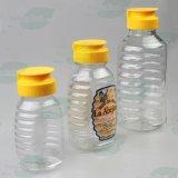 500g Non-Dripペットシリコーンのパルブキャップ、弁帽(PPC-PHB-01)が付いているプラスチック蜂蜜のびん