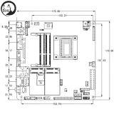 Carte mère Mini-Itx avec Skylake-U, Processeur Celeron 3855u 1.6GHz Dual Core