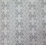 Stof van het Kant van het Borduurwerk van de bloem de Witte