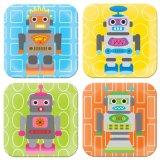 Vaatwerk van de Melamine van de Plaat van het Diner van Vrije Kinderen BPA het Vastgestelde met Robot