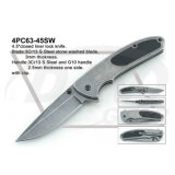 "4.5 "" Closed Liner Lock Tactical Pocket Knife com Stone Washed: 4PC64-45sw"