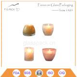 Supporto di candela di vetro Votive dell'annata, lanterna della candela