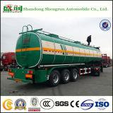 De chemische Vloeibare Aanhangwagen van de Vrachtwagen van de Tanker van het Vervoer