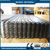 hoja de acero acanalada galvanizada sumergida caliente del material para techos 16gauge