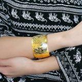 Armband van de Textuur van het Roestvrij staal van de manier de Juwelen Overdreven Onregelmatige