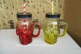 Опарник Moson формы черепа стеклянный для выпивая чашки или кружки с крышкой