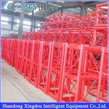 単一建築材の上昇装置および起重機を構築する二重ケージ