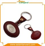 Kundenspezifisches Drucken-Leder-Metall Keychain