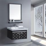 Cabina de cuarto de baño de la pared del acero inoxidable de la alta calidad con el espejo