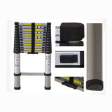 En131 Approved 3.8m Lightweight Aluminum Telescopic Ladder