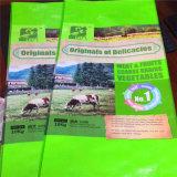 Sac tissé par pp à polypropylène utilisé pour la farine d'emballage, riz, les graines, céréale, sac tissé par plastique bon marché, prix bas pp