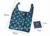Weste-Form-Polyester-Einkaufstasche faltbar mit einem Drawstring-Beutel nach innen