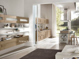 Populaire pour le modèle en bois de meubles de Module de cuisine de placage du marché du Canada