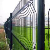 Triângulo revestido PVC do aeroporto que dobra a cerca soldada do engranzamento de fio