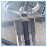 2 Windows 기계가 PVC를 위한 맨 위 물 슬롯 축융기에 의하여 윤곽을 그린다