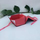 Изготовленный на заказ черная магнитная роскошная твердая складная упаковывая коробка/складная коробка/бумажная коробка подарка