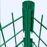 Triangle d'aéroport enduite par PVC dépliant la frontière de sécurité soudée de treillis métallique