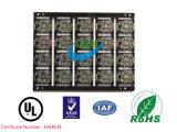 PWB elétrico da placa de circuito impresso de 6 camadas com Sodermask preto