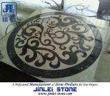 大理石のウォータージェットの円形浮彫りの象眼細工の自然な石造りのモザイク模様