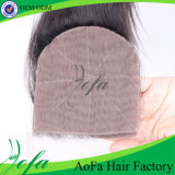 Swiss Lace 100% Human Hair 4X4 Size Hand Tied Silk Base Closure