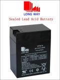 batería cargable de la alta calidad 6V14 para el sistema de seguridad Emergency