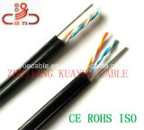 Cable llenado jalea del audio del conector de cable de la comunicación de cable de datos del cable del cable/del ordenador de alambre de gota 2pair