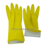 Розовая перчатка работы перчаток латекса домочадца перчаток латекса кухни