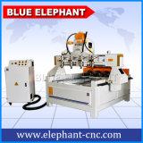 Maquinaria de madeira barata do CNC da boa qualidade do preço Ele2015 para a madeira que cinzela com dispositivo 4 giratório ajustado