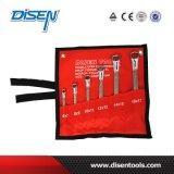 Clé d'extrémité de boîte emballée par sac de toile de la norme ANSI 6PS (6-17mm)