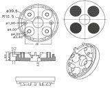 One Lens (25/35度のクリー語XTE)のDownlight Spot Lamp Lens/R39.5mm Four