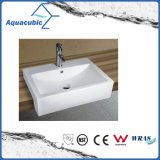 Lavatório de lavagem de mão de lavatório e lavatório de arte de armário cerâmico (ACB8325)