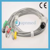 Dixtal 5 - Lead ECG Cable con hilos conductores , Clip , 6pin
