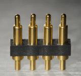 Personalizado 4 pinos revestir o conetor de Pin de Pogo com impermeável