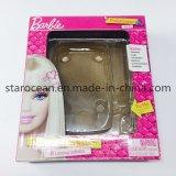 Поднос PVC коробки подарка вакуума пластичный упаковывая для учащийся Barbie карманного