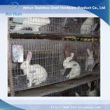 Acoplamiento de alambre soldado de la jaula del conejo del acero inoxidable