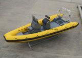 Bote patrulla de la costilla de China Aqualand 19feet los 5.8m/barco de pesca inflable rígido/barco del rescate/del salto (RIB580)