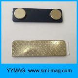 Emblema de nome magnético em metal / Etiquetas de nome magnéticas / Grampos de metal magnético