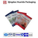 Três lados selaram o saco do empacotamento plástico do marisco, saco do alimento Frozen