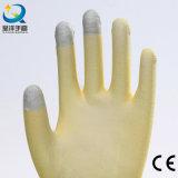 перчатка Touch-Screen PU перста раковины нейлона 13gauge или полиэфира Coated (PU2007)