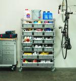 Organizador de aço da prateleira do sistema de armazenamento de armazém da garagem da cremalheira de 22 escaninhos