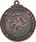 2つの調子のめっきのカラーテーブルのテニスメダル
