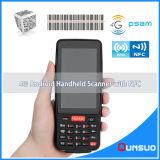De handbediende Androïde Scanner PDA van de Streepjescode van de rfid- Lezer