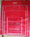 Plastiktasche-bunte niedrige Dichte-Einkaufen-Waren gestempelschnittener Griff-Beutel