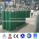 cilindro d'acciaio dell'ossigeno 47L con le valvole e le protezioni