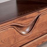 Armário moderno da tevê da mobília da sala de visitas de madeira de madeira contínua da cinza (M-X2007)