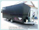 Reboques feitos sob encomenda da concessão e caminhões móveis do alimento